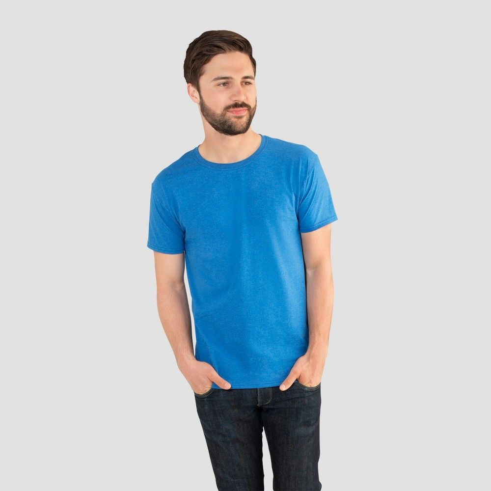 a9c585410 Fruit of the Loom Select Men s Short Sleeve T-Shirt - Blue XL ...