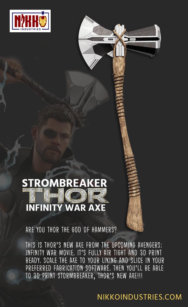 Strombreaker- Thor Infinity War Axe | Best of Nikko