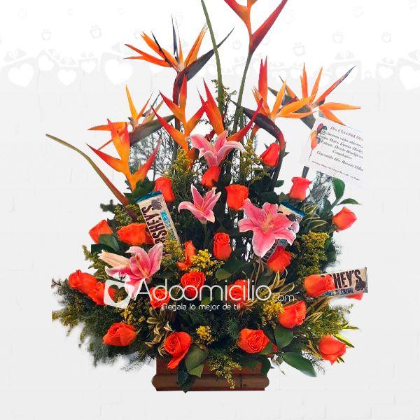 Regalos Para El Dia De La Madre Arreglo Floral Felicidad A