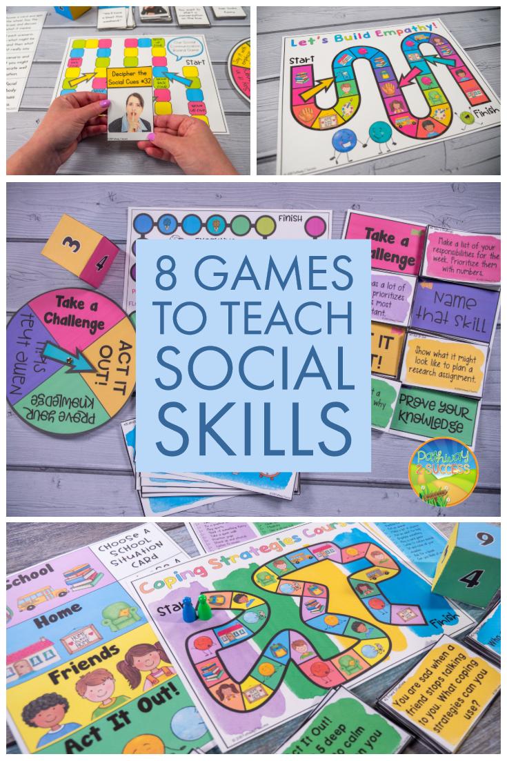 Using Games To Teach Social Emotional Skills Social Emotional Skills Teaching Social Skills Social Skills For Kids
