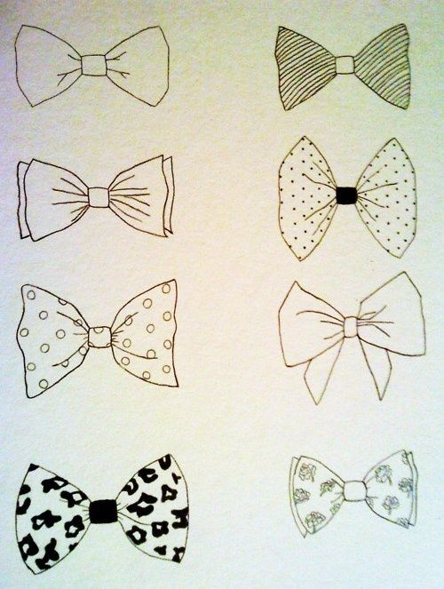 bow-tie drawings. cute bows