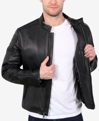 237aec32c William Rast Men's Leather Moto Jacket - Black XXL   Products ...
