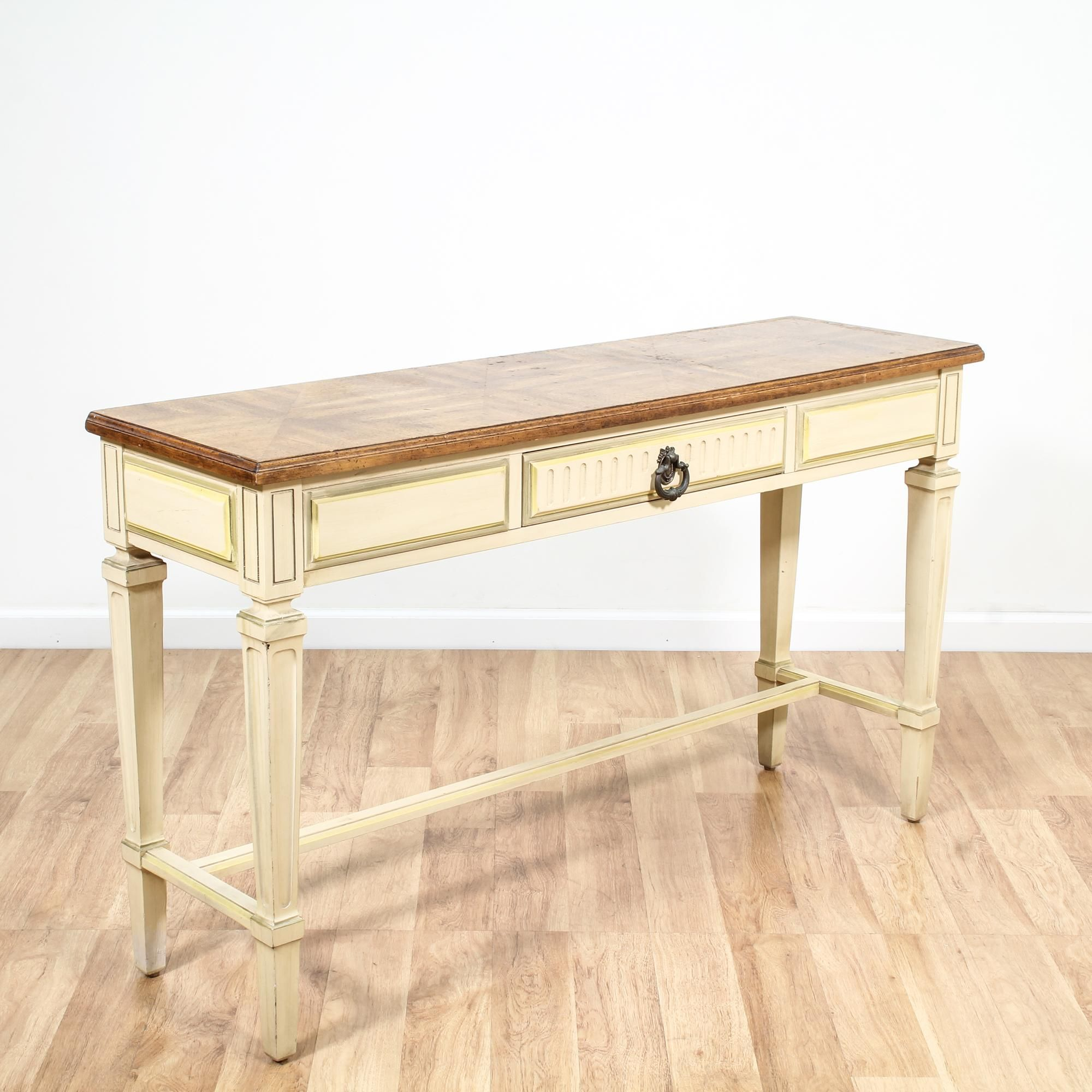 Cream french provincial sofa table console server french cream french provincial sofa table console server geotapseo Images