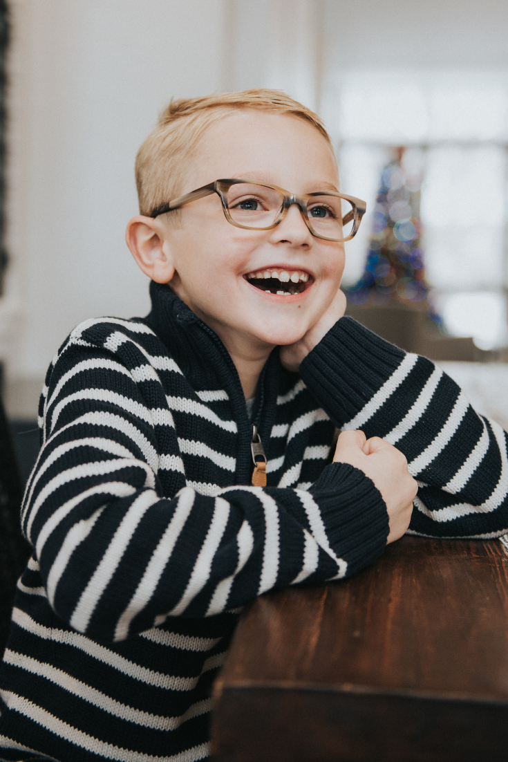 b2107ab704cb Stylish striped glasses for kids. These brown prescription eyeglasses from  Jonas Paul Eyewear is our Miles frame in Nutmeg and is great for a variety  of ...
