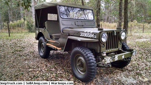 Military Jeep 1952 M38 Willys W M100 Strick Trailer