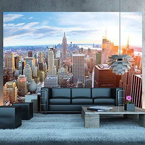 New York Penthouse Skyline Photo Wallpaper Manhattan