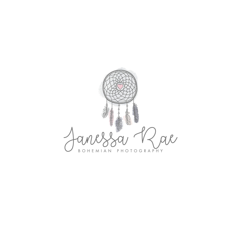 Logo design, watercolor flowers, photography logo, logo template ...