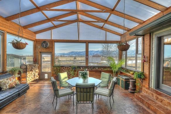 We Are In Love With This Amazing Sun Room It Has Views