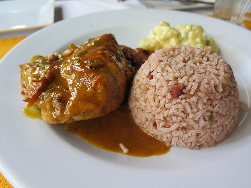 Belize Recipes: Stew Chicken with Rice & Beans. This ...