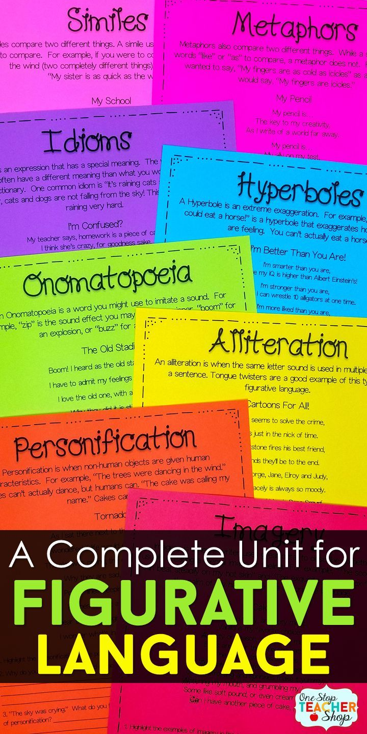 Figurative Language With Poetry Pinterest Alliteration Simile