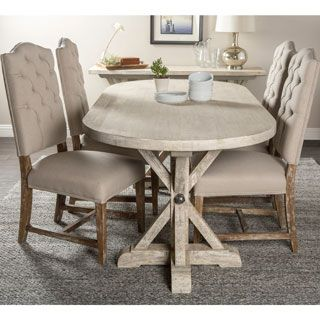 Kosas Home Palle Oval Dining Table (Oval Dining Table), Brown ...