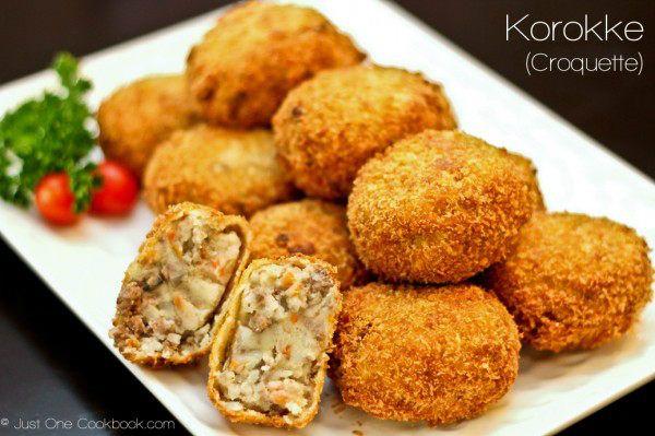 Korokke (Potato & Meat Croquette) Recipe   JustOneCookbook.com