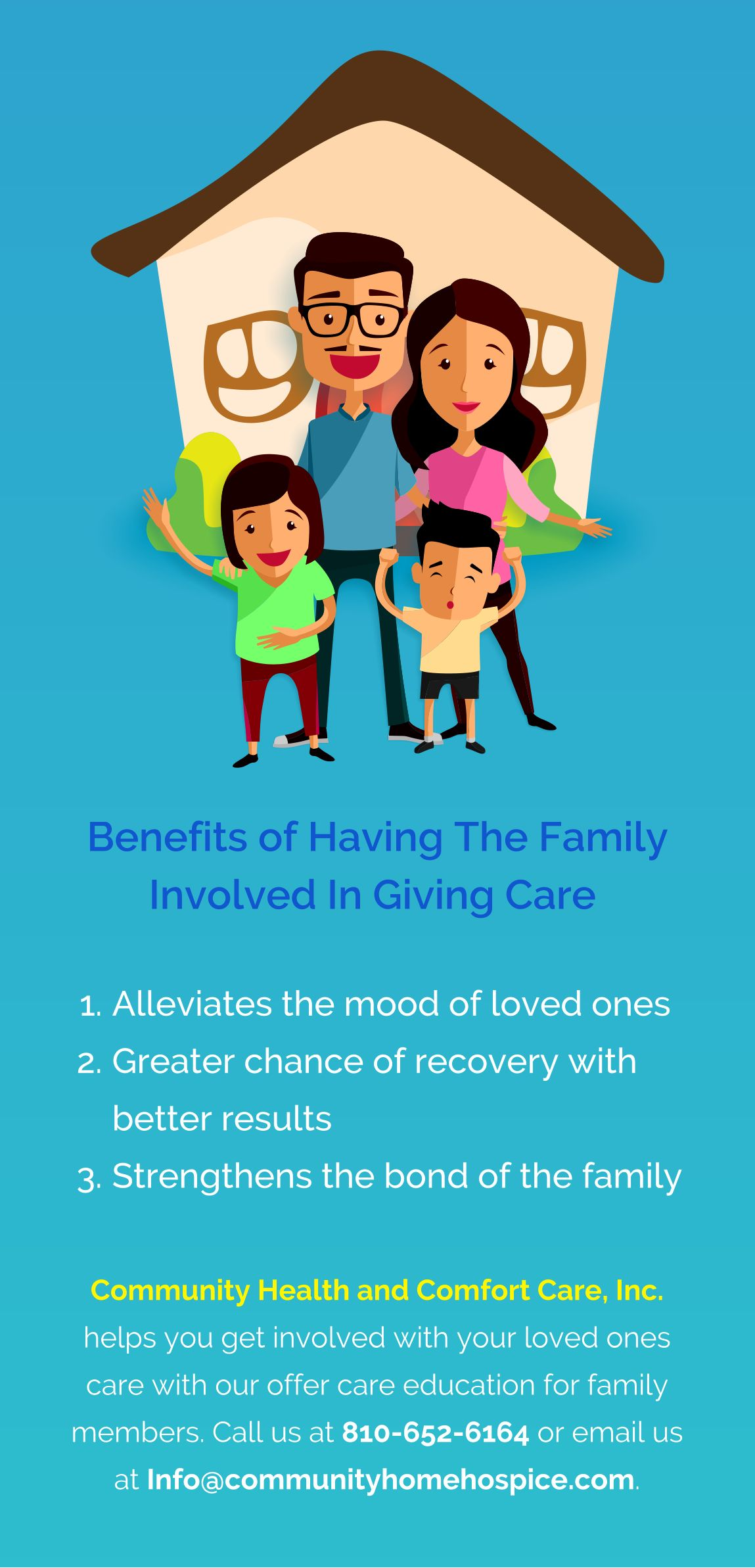 Benefits of having the family involved in giving care