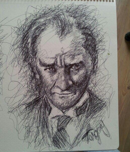 Ataturk Karalama Watercolor Pencil Drawings Sketches Ve Art