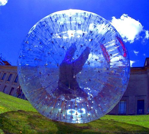 This Human Hamster Ball For Zorbing Thrill At Your Backyard Hill Gadget Him Inflatable Water Park Bouncy Castle For Sale Water Slides