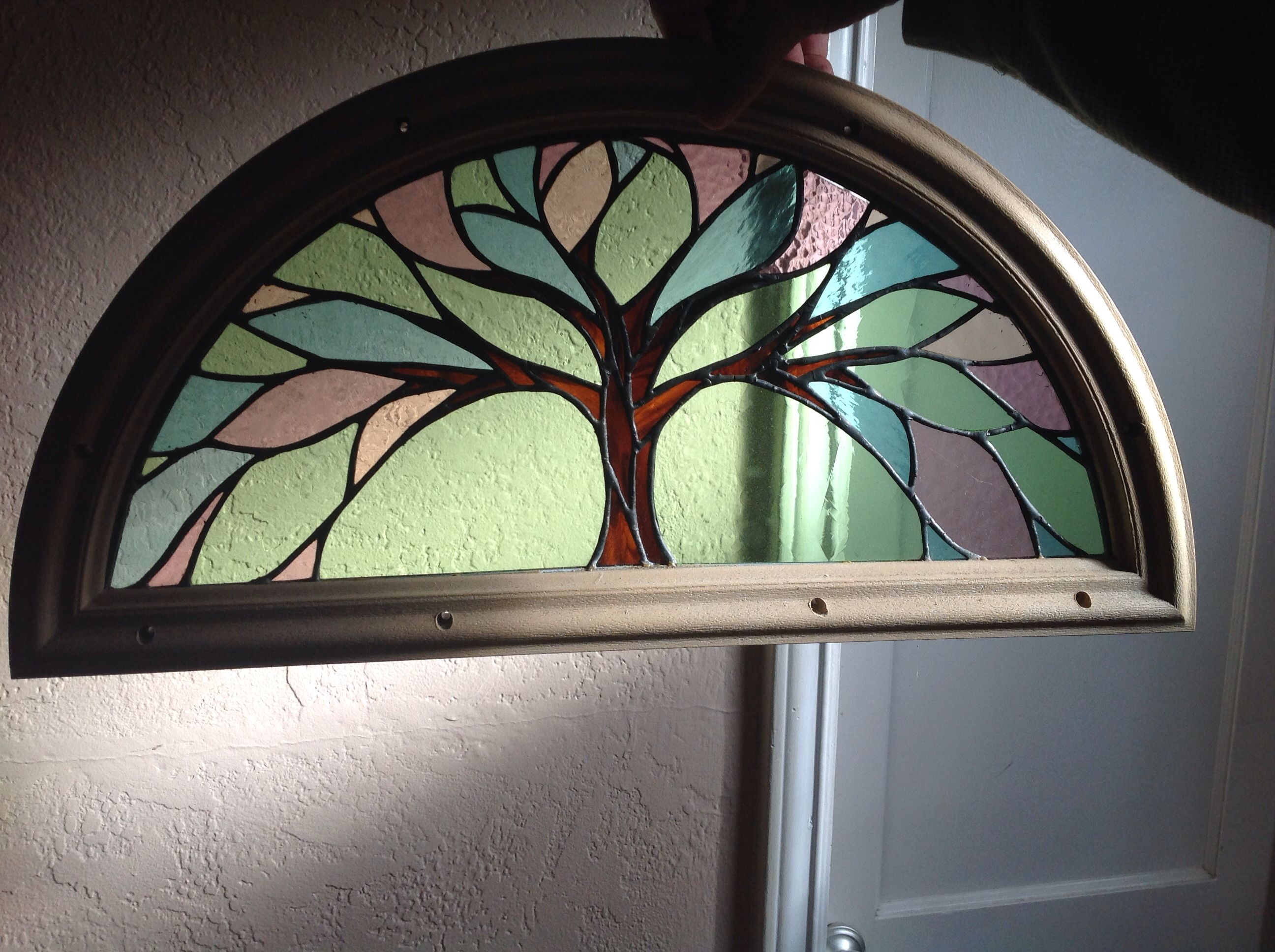 stained glass front door insert by ellen serrano glass