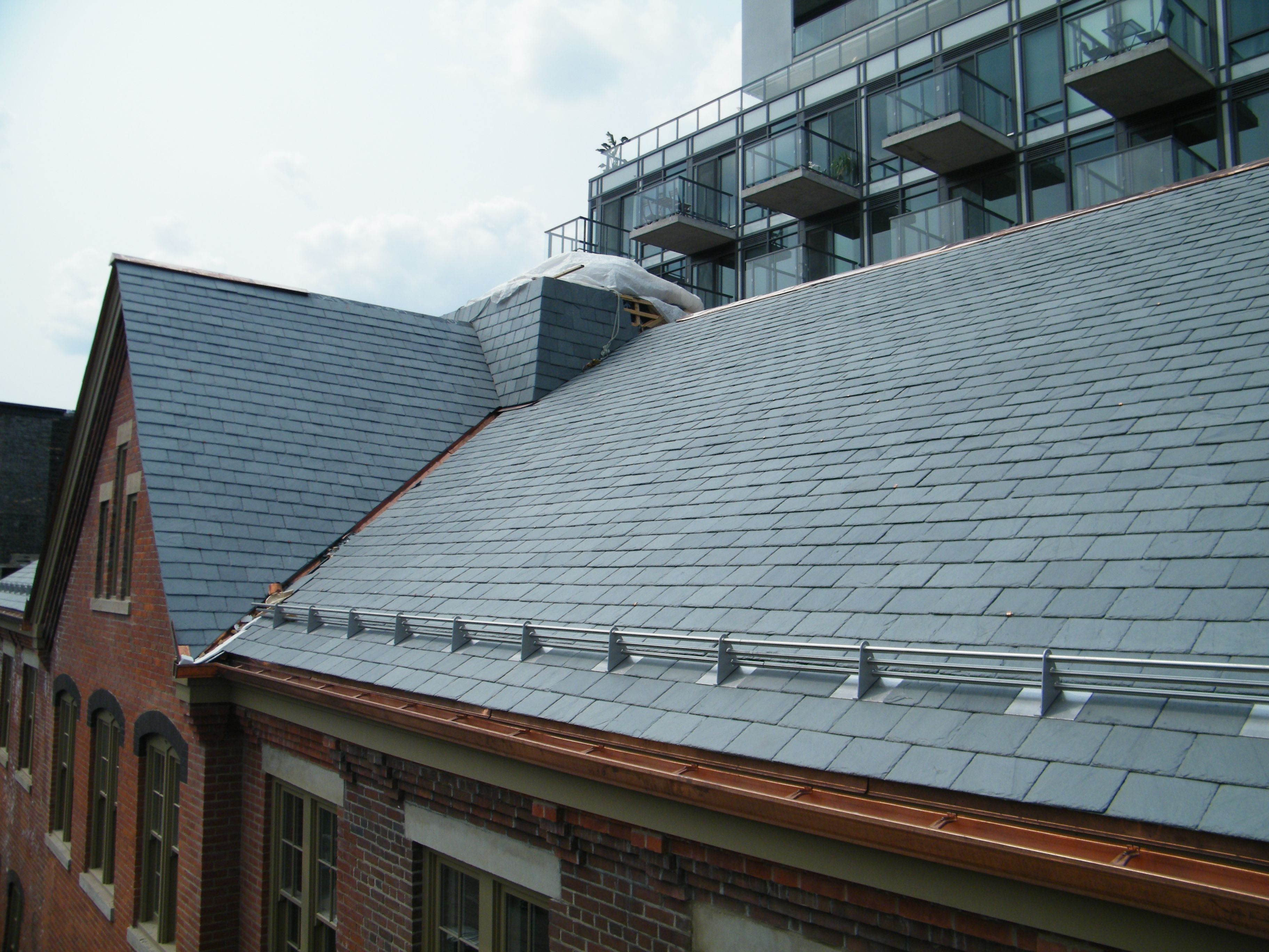 Slate Snow Railing System House Styles Building Condo
