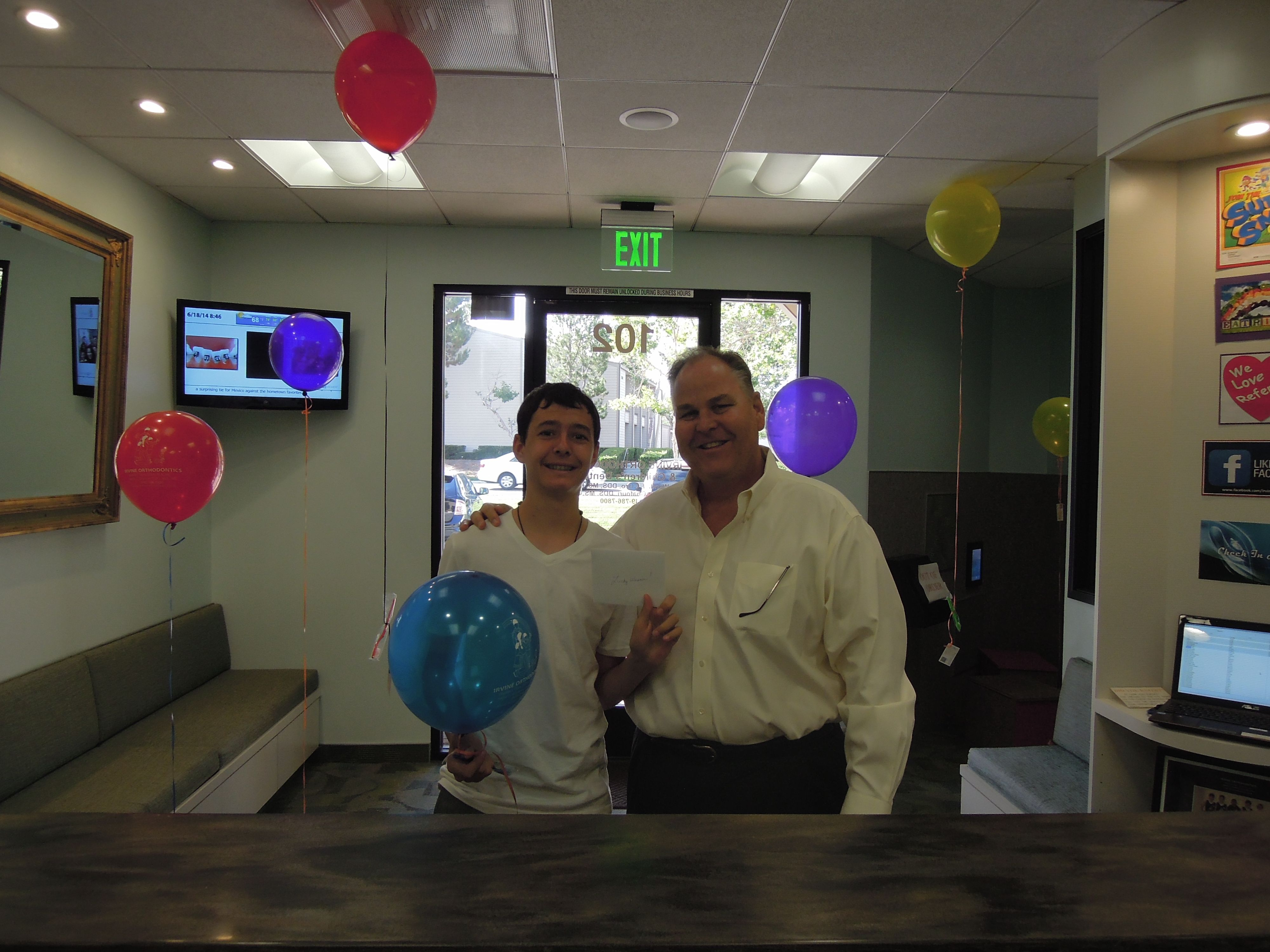 Jake and his dad had a great time on Balloon Day.. Especially after winning one of our Gift Cards :)
