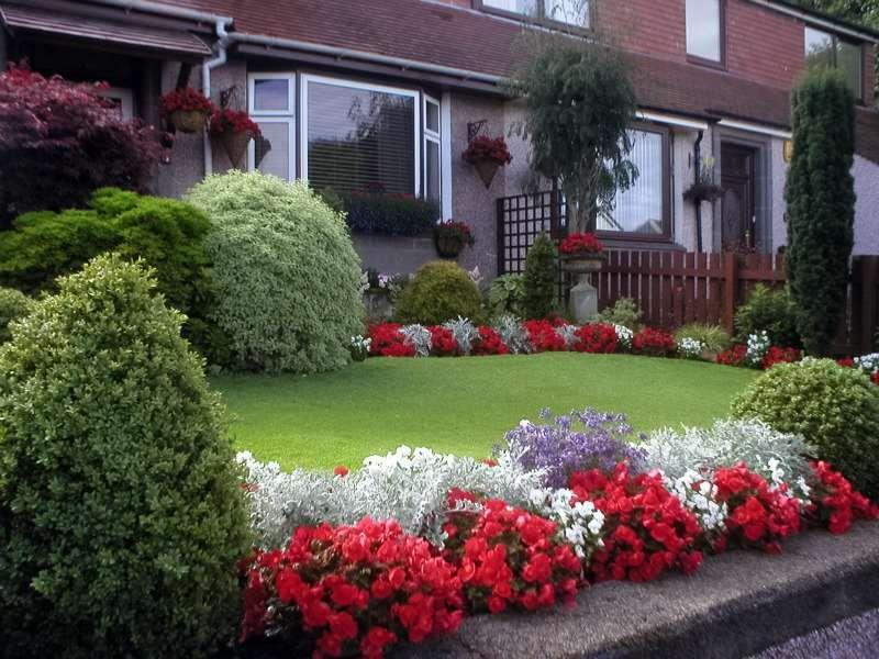 Borduras de jardín con flores | Gardens, Front yards and Flowers