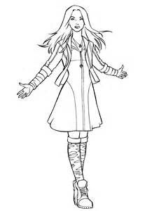 Avengers Scarlet Witch Coloring Pages Sketch Template