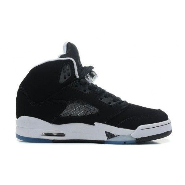 buy genuine mens air jordan 5 retro black cool grey white oreo ... 9e0ecbc9e3f8