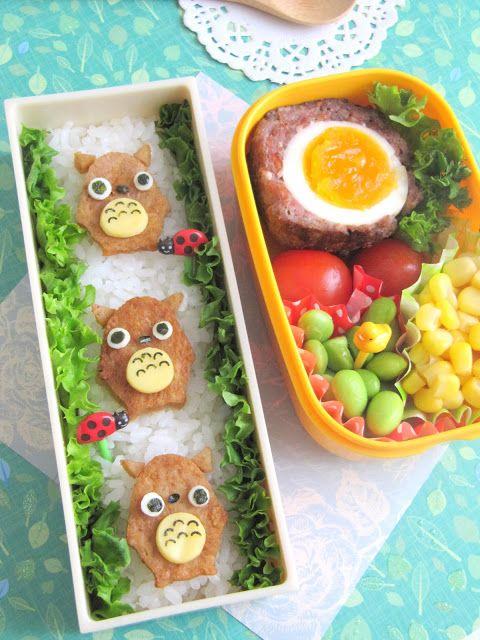 Cooking Gallery: Cute Totoro Bento