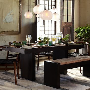 Terra Dining Table #WestElm is pedestal inset enough to not ...
