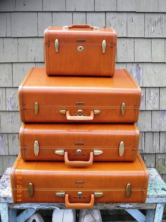 Samsonite Vintage Leather Suitcase