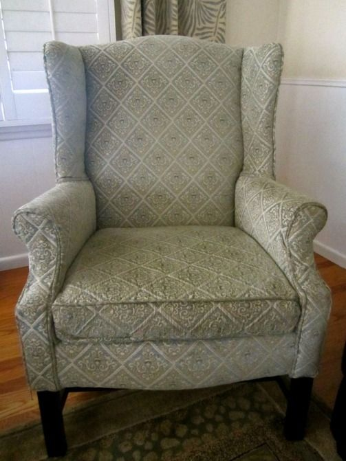 Reupholstered Wingback Chair | Roadkill Rescue