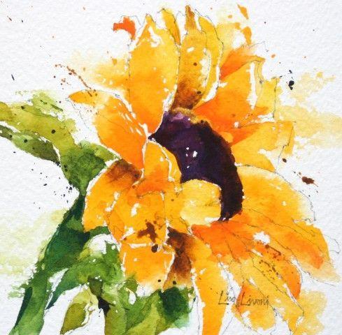 best 20 watercolor sunflower