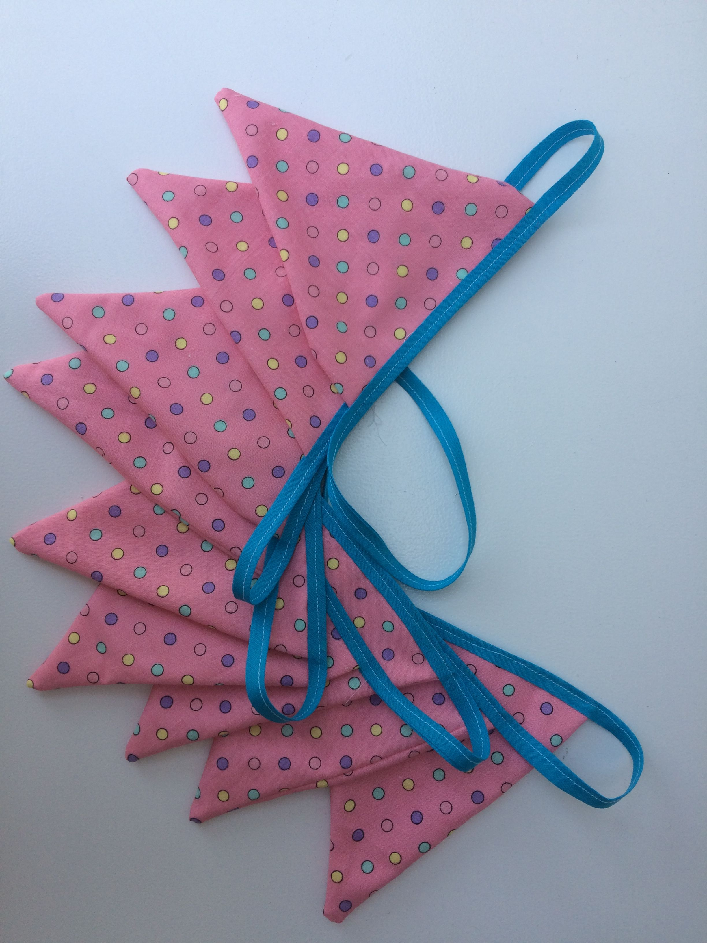 Roze met stip, hoe gezellig! Handgemaakt door #mevrouwtjesheeren