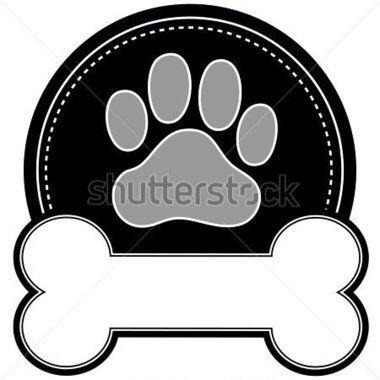 Huella y hueso  planchas vinilos  Pinterest  Animal crafts Dog