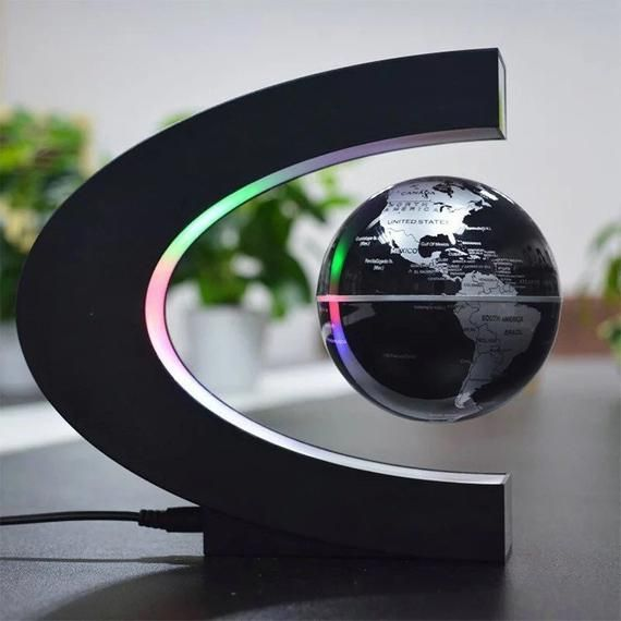 Floating Earth Magnetic Levitation Globe Ornament Night Lamp Light Home Decor Office & Gadgets by Vi
