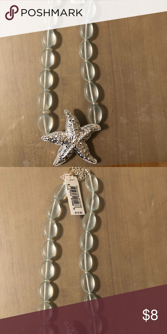 366fe3f59 Sea glass and Starfish Necklace Brand New with Tags Periwinkle by Barlow  Jewelry Necklaces