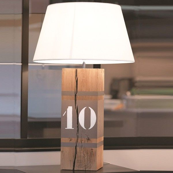 Lampe bois naturel number xl diy id luminaires for Lampe bois flotte naturel