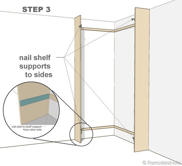 Step By Step   Building A Corner Bookshelf (corner Bult In Bookshelves Mod)  Remodalholic