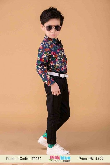 4a4e7b5c0895 Cool and Comfortable Baby Boy Black Trouser for Special Occasions ...
