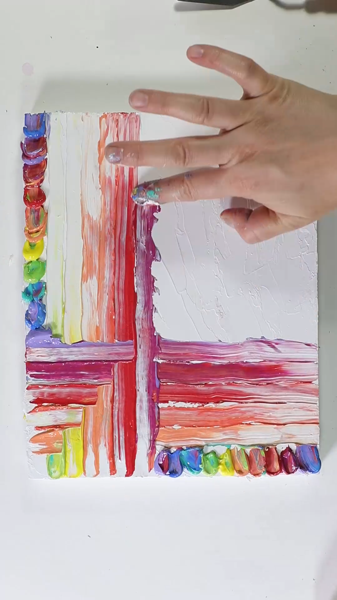 Photo of Fun Finger Painting with Acrylic Paints