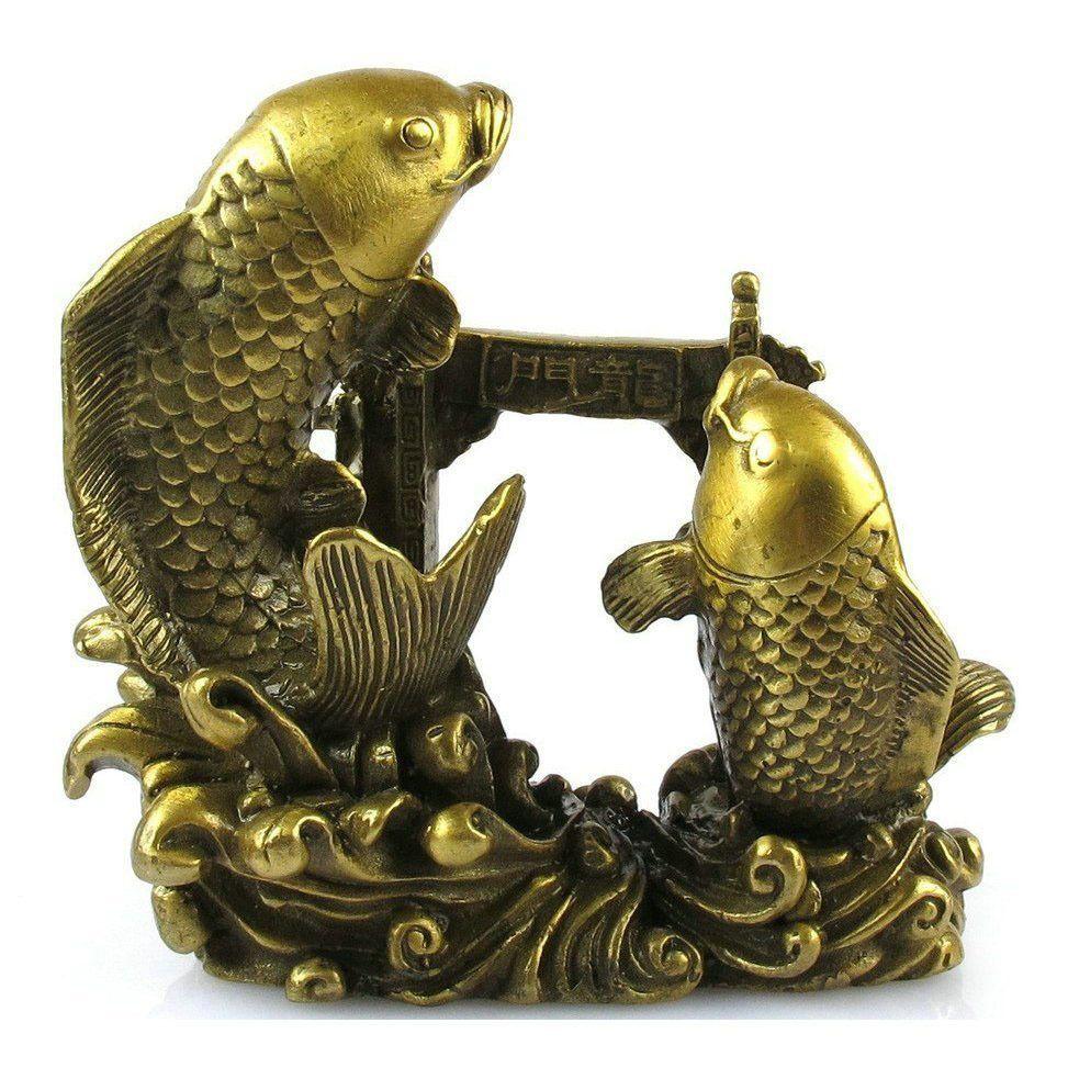 Patchwork  decoration  fish lungmoon rich Medium t375  Bronze art Crafts copper decoration