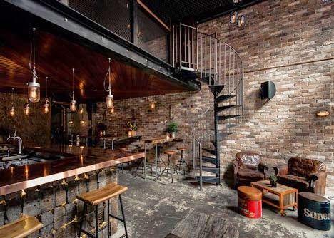 Sydney ambiance loft dans un bar copper wrought - Deco loft industriel pas cher ...