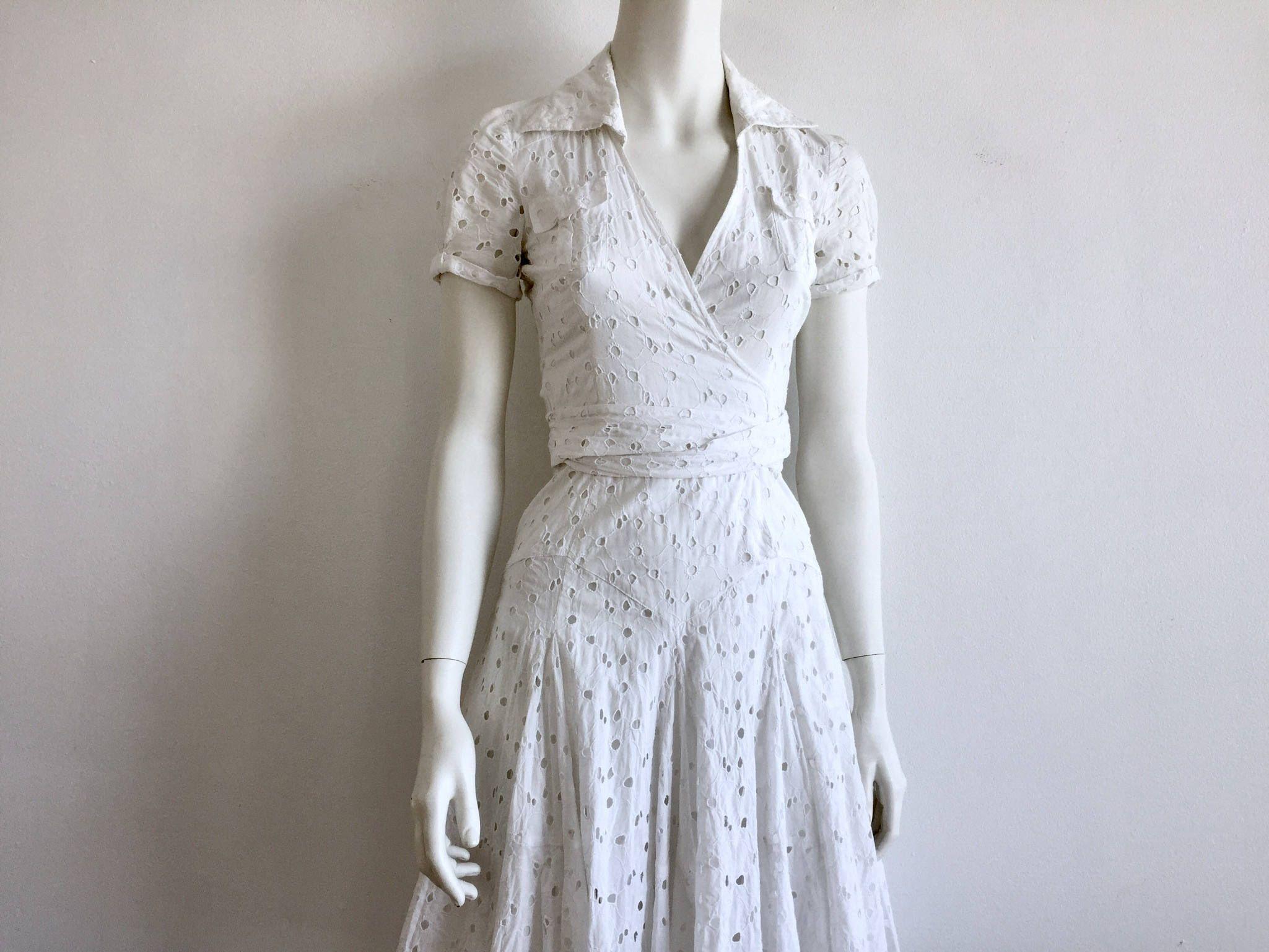 Furstenberg 70 S White Eyelet Shirt Dress Diane Von Furstenberg All Cotton White Wrap Dress Original Dvf Fluted Skirt Wrap Shirt Dress Wrap Shirt Dress White Wrap Dress White Eyelet [ 1537 x 2049 Pixel ]