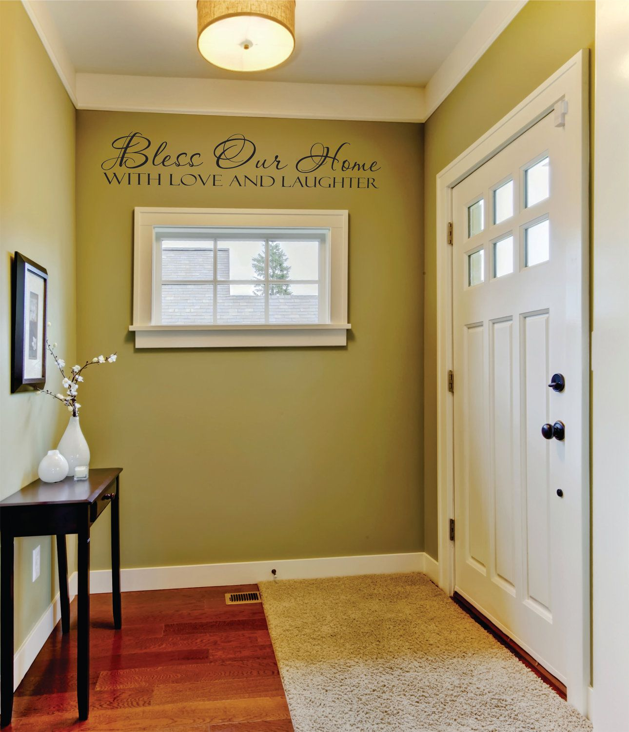 Bless our home with love and laughter vinyl wall decal sticker ...