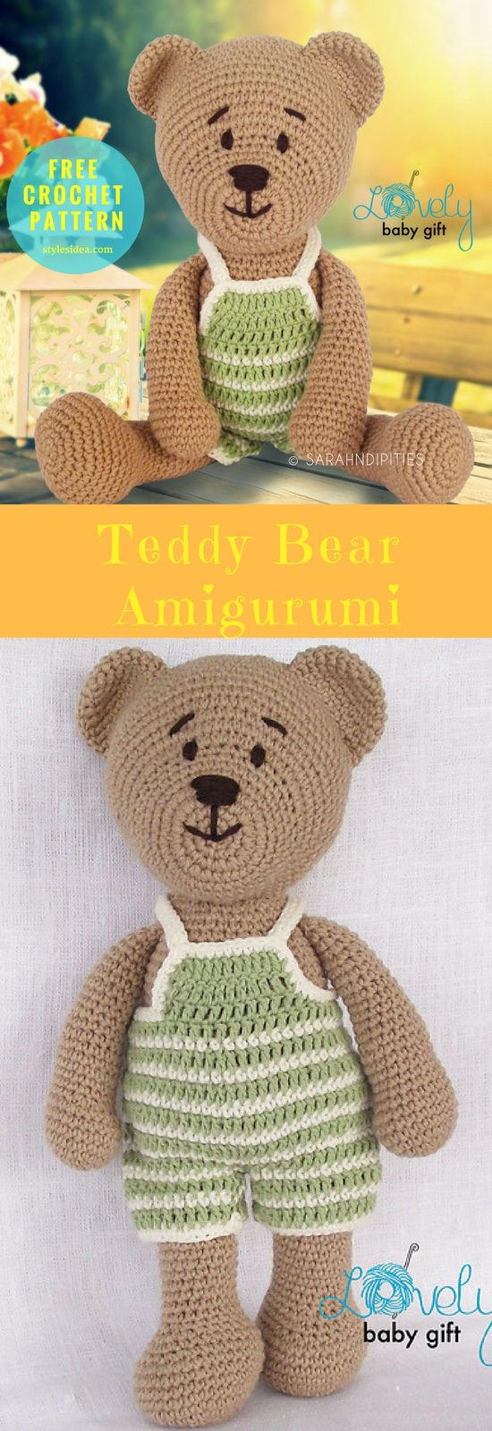 hat hair styles amigurumi teddy free crochet pattern 4772