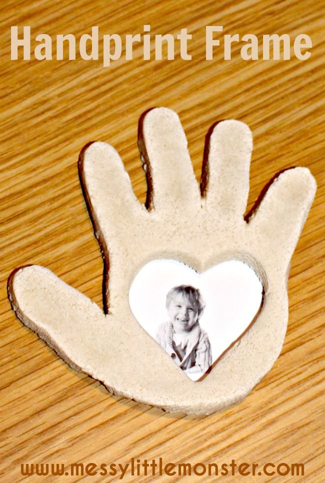 Salt Dough Handprint Frame Grandparents Day Crafts Valentine S