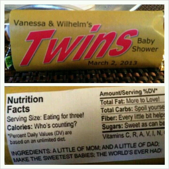 I made these covers for Twix bars and found the cutest nutrition facts to put on the back.