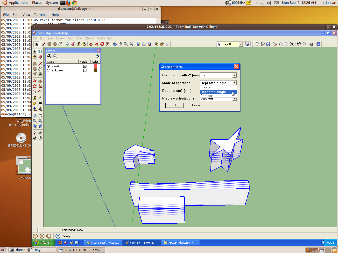 A Ruby Plugin For Google Sketchup To Output G Code For Desktop Cnc