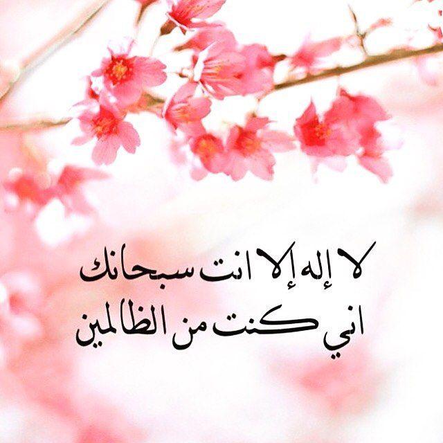 لا اله الا انت سبحانك اني كنت من الظالمين Quran Arabic Allah Quotes Doa Islam