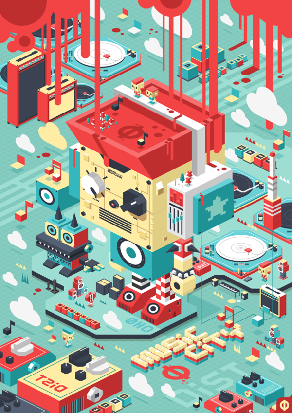 D.PEIN by THENEW ART AGENCY Isometric illustration