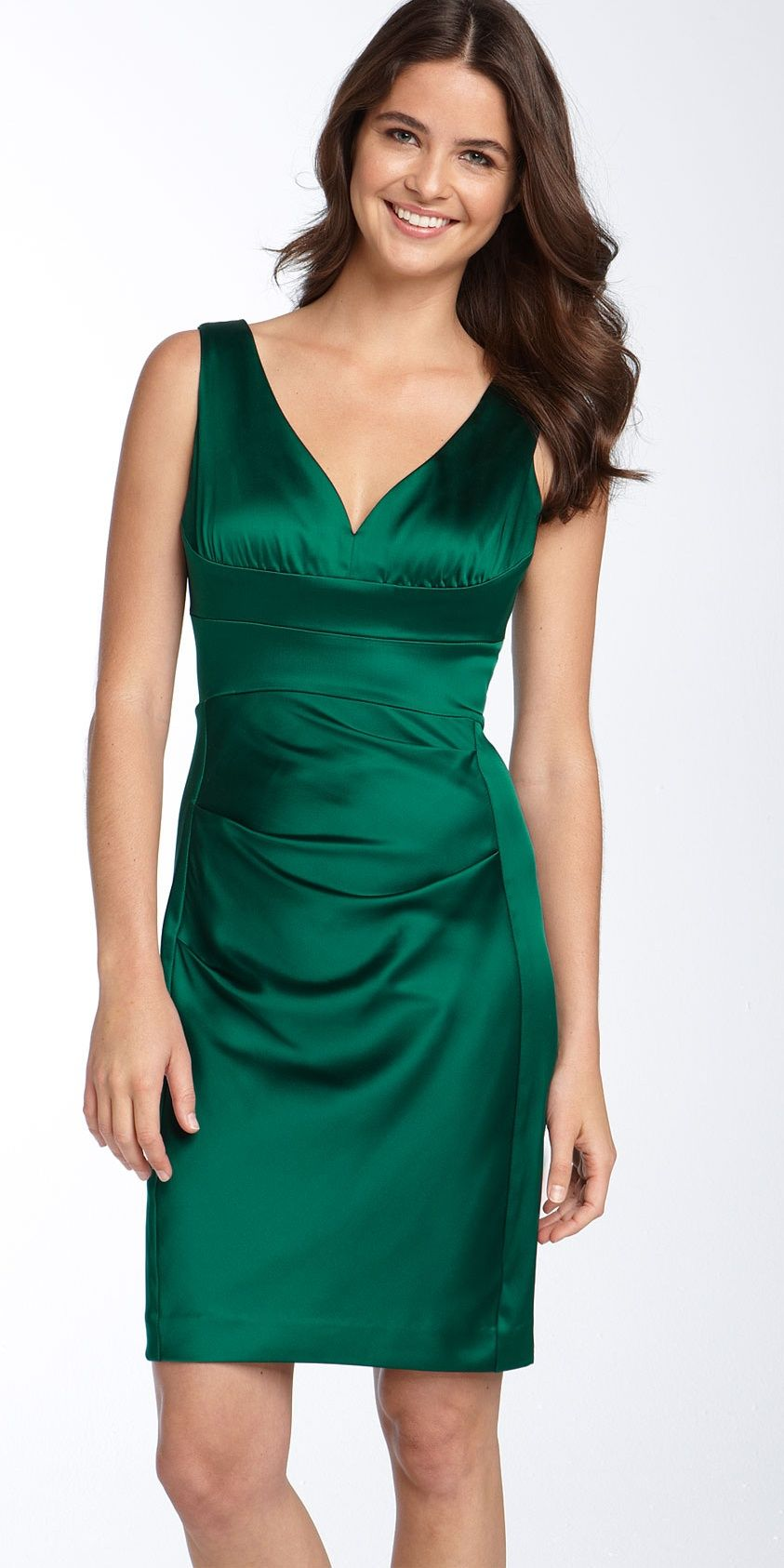 Dark Green Satin Dress | Glamorous Green Tourmaline | Pinterest ...