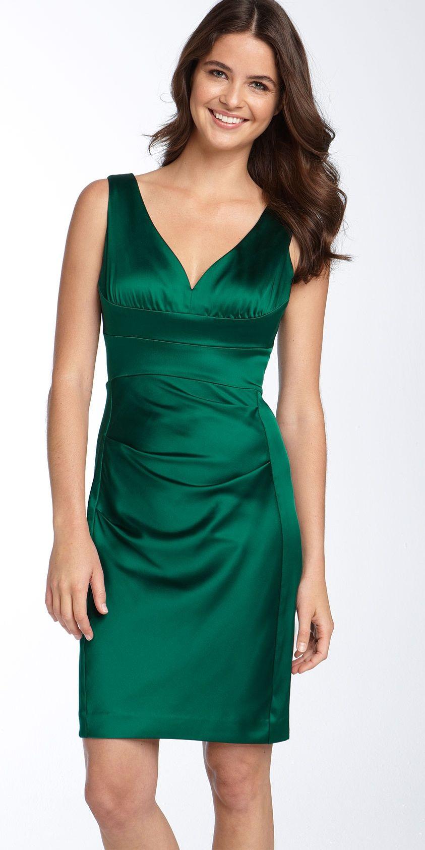 Dark Green Satin Dress   Glamorous Green Tourmaline   Pinterest ...